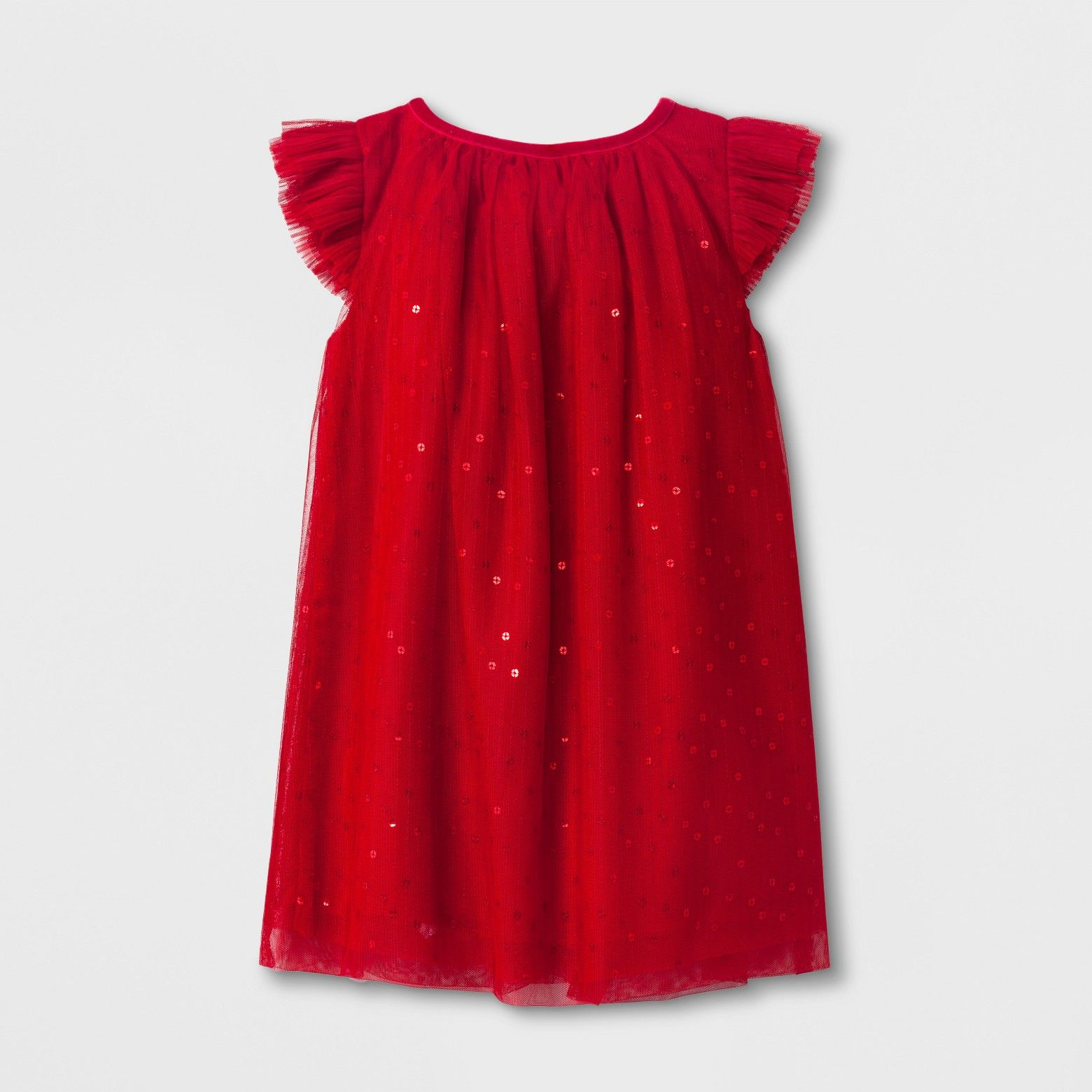 516571079924 Toddler Girls' Sequin A Line Dress - Cat & Jack™ Red Velvet : Target ...