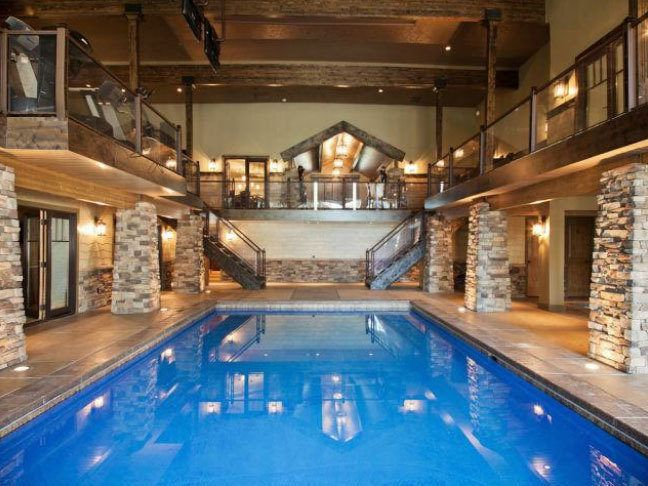 Own A Nutso Master Suite With A 40 000 Gallon Indoor Pool Indoor Pool Design Pool House Designs Swimming Pool House