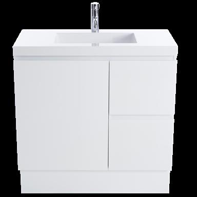 Cibo Design 750mm White Function Slimline Vanity Bunnings Warehouse In 2020 Vanity Compact Bathroom Bathroom Styling