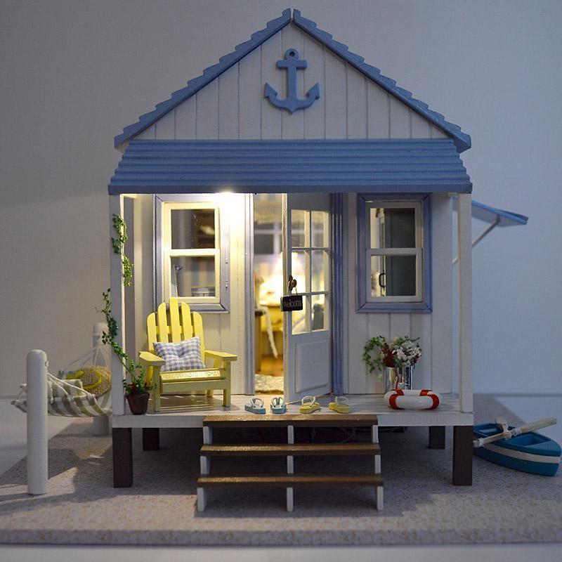 Comprar casa de mu ecas muebles de casas de mu ecas en miniatura casa de mu ecas - Casas en miniatura de madera ...
