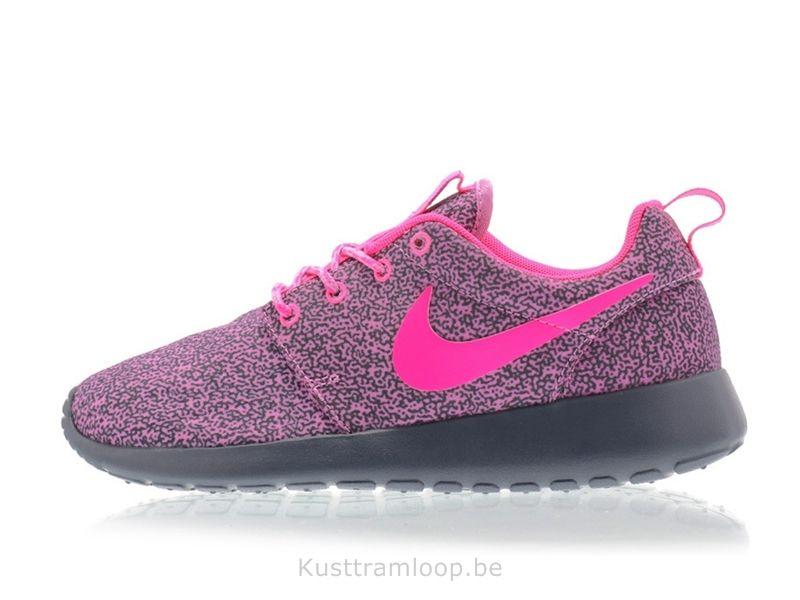 new style 6c460 32581 Nike Femme Roshe Run Imprimer Magenta Clair  Hyper rose-magenta foncé  Gris-Volt Roshe Run Noir Et Blanc