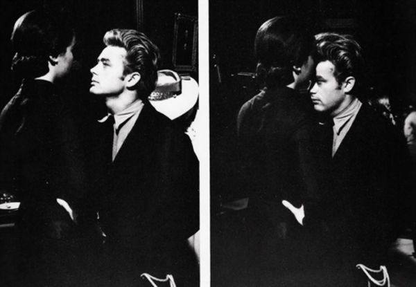 Elizabeth Taylor giving James Dean a kiss on the forehead ..my heart just melted.