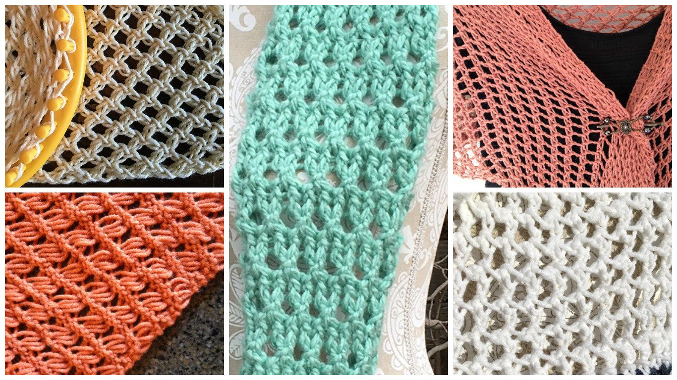 how to make different stitches on a knitting loom