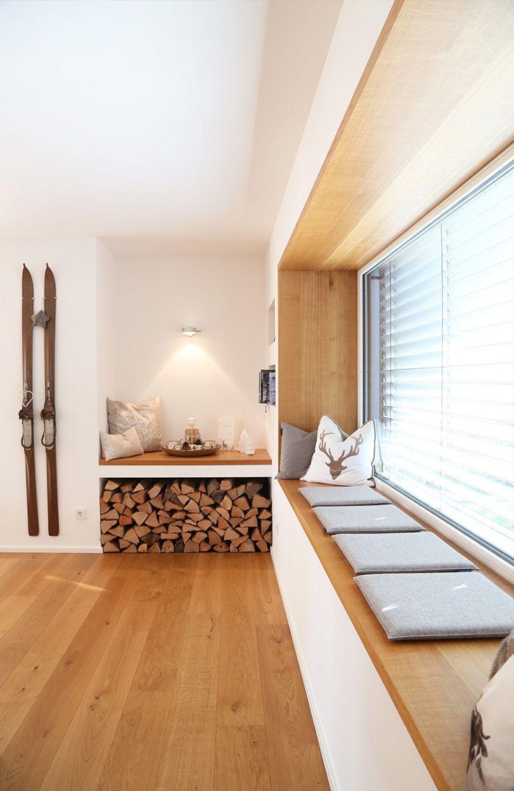 Ausladendes Sitzfenster Wohnen Haus Wohnzimmer Wohnung