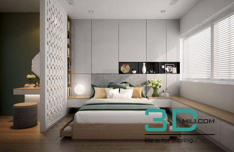 17 01 Bed Room Scene 17 Giường Nice