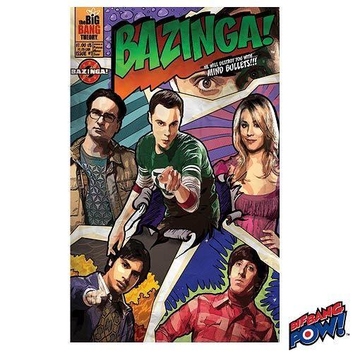 The Big Bang Theory Comic Bazinga 61 x 91.5cm Poster NEW AND SEALED