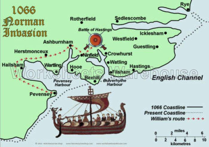 The Norman invasion of England. The English tried many times to ...