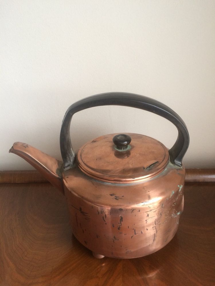 Shabby Chic Old Copper Kettle Ebay Home Decor Antiques