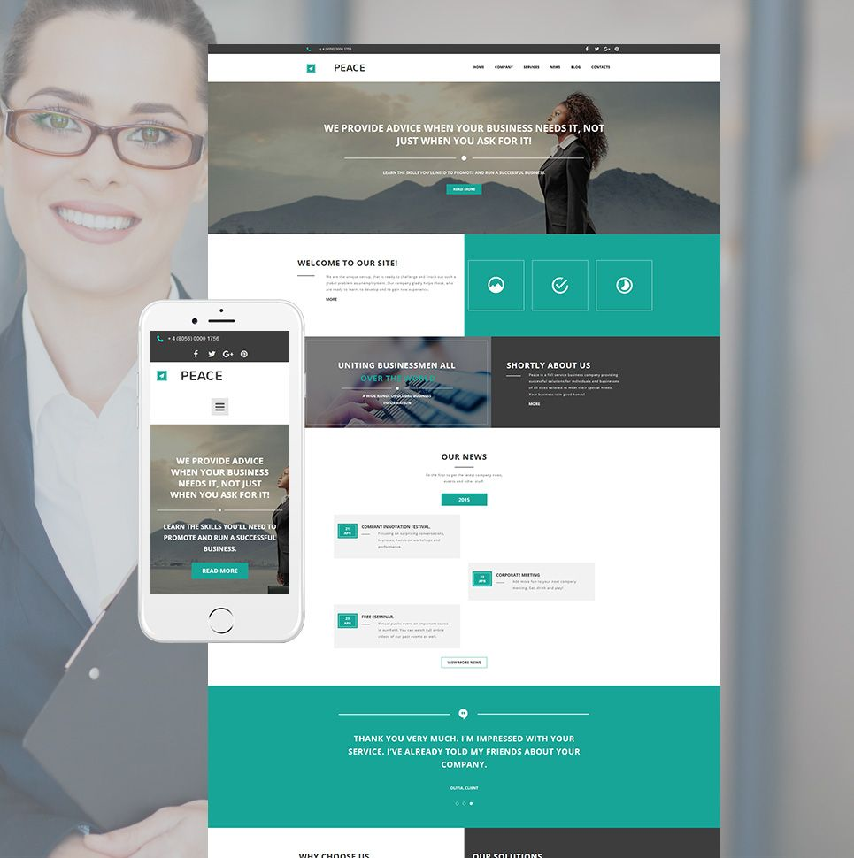 Business consulting website theme with cms webdesign business consulting website theme with cms wajeb Choice Image