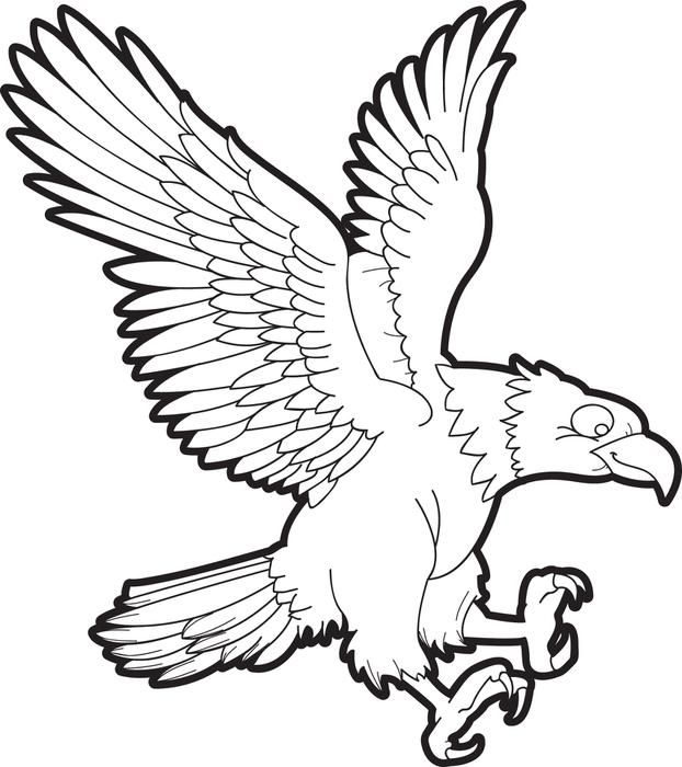 Bald Eagle Coloring Page | Bald eagle, Free printable and Shrink ...