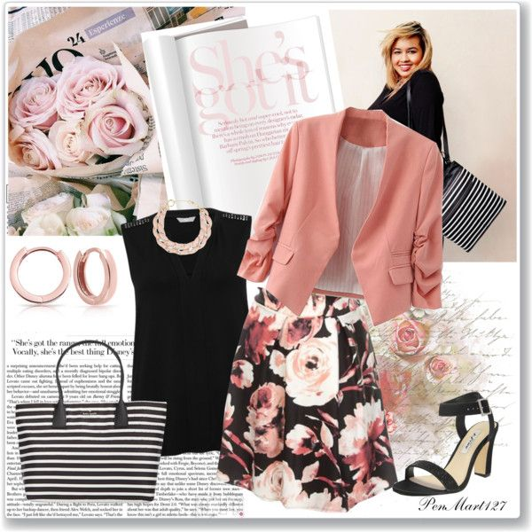 Floral Skirt #Plussize
