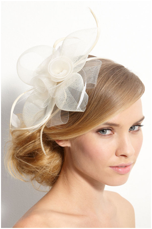 White Tasha Headband Fascinator For Wedding