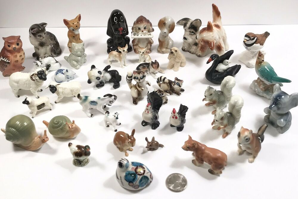 39 Miniature Figurine Dog Cat Bear Lamb Snail Rabbit Rooster Hagen Renaker More Ebay In 2020 Trinidad Dog Cat Antigua And Barbuda
