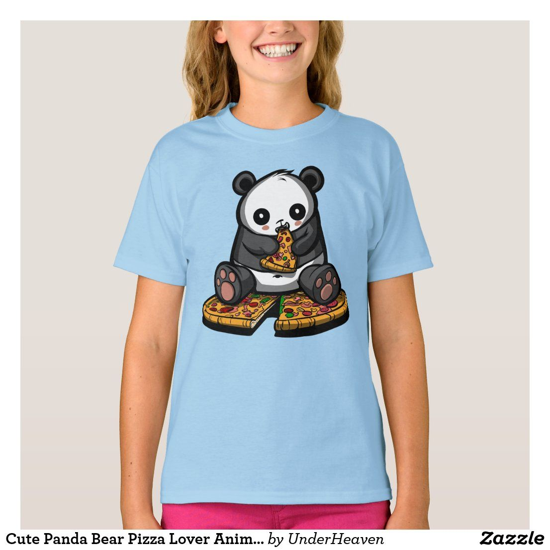 Cute Panda Bear Pizza Lover Animal T Shirt Zazzle Com In 2021 Cute Panda Animal Tshirt Panda Bear