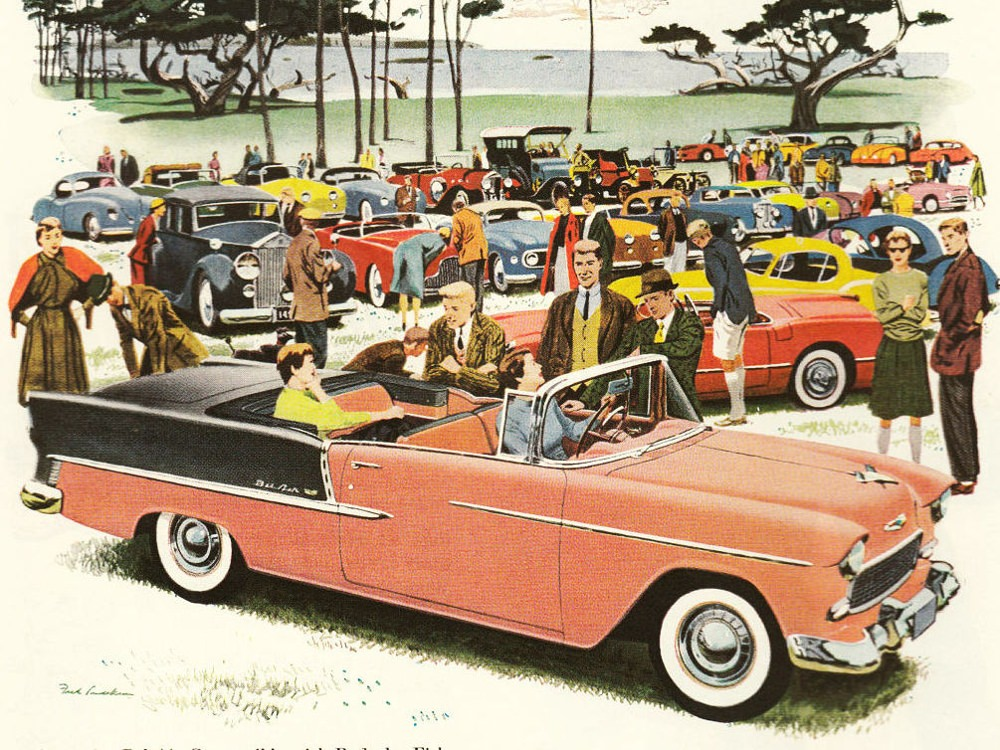 Chevrolet 2400 Bel Air Convertible V8 Powerglide C Gm Corp Cc By 3 0 Vintage Cars 1955 Chevy Bel Air Car Ads