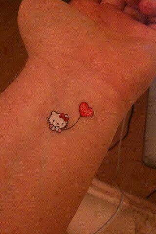 Creative Tiny Amazing Cute Wrist Tattoo Designs Inspiration And Ideas From Www Designmain Com Wristtattoo T Hello Kitty Tattoos Cat Tattoo Cute Tattoos