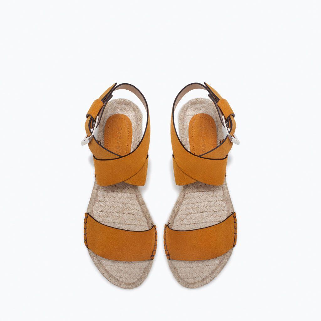 Sandals shoes holidays - Leather Flat Sandal Zara