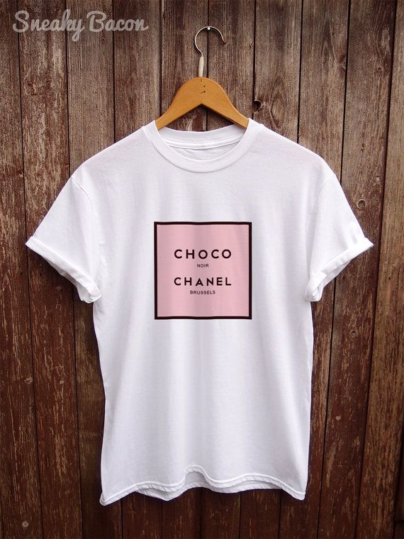 Parody Chanel T shirt funny t-shirts a womens by SneakyBaconTees