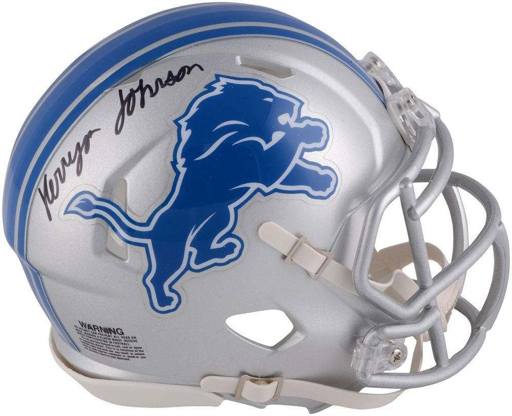 Kerryon johnson detroit lions autographed riddell speed