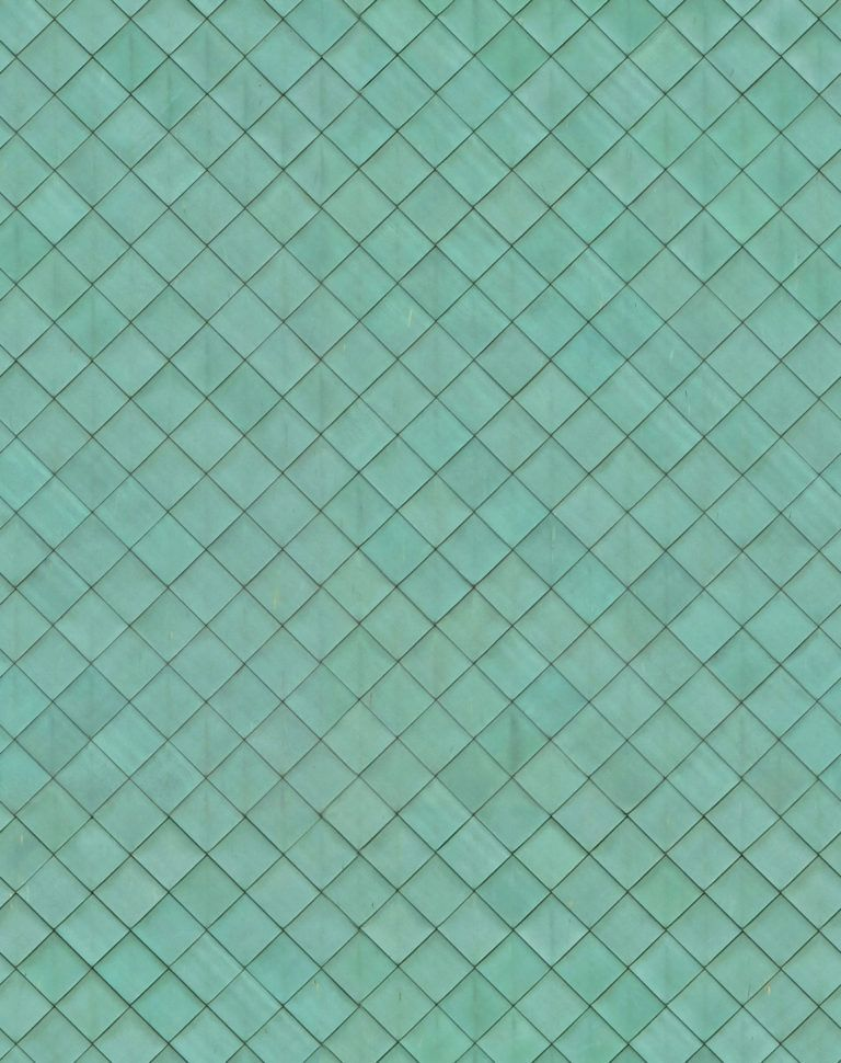 Weathered Green Copper Lattice Panels Seamless Texture In