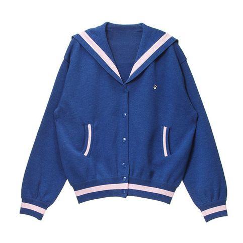 "Style:sweet+japanese,silor+sweater,sweater+coat,japanese+coat Fabric+material:cotton+blend Color:blue  Size:S,M,L S+size: Length:58cm/22.83"".shoulder:40cm/15.74"".bust:100cm/39.37"".sleeve+length:59cm/23.22"" M+size: Length:60cm/23.62"".shoulder:42cm/16.53"".bust:104cm/40.94"".sleeve+length:60c..."