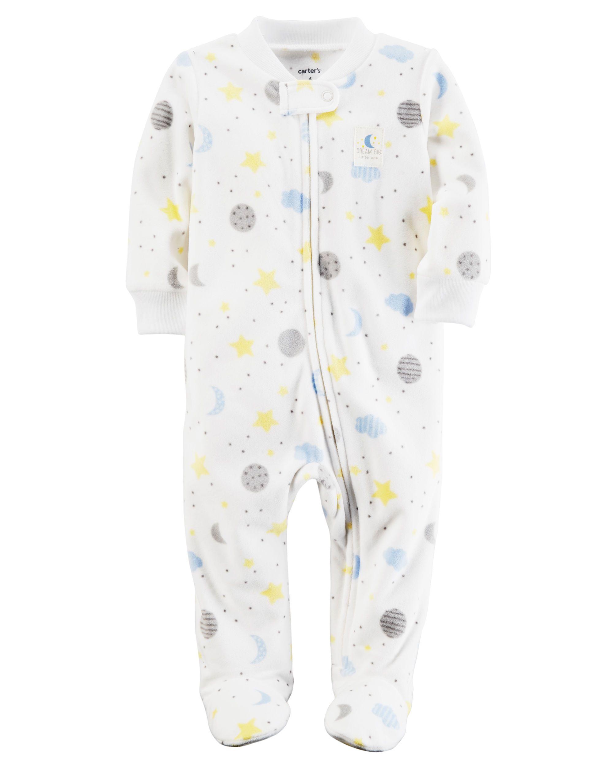 db1b72b380ae Baby Neutral Fleece Zip-Up Sleep   Play
