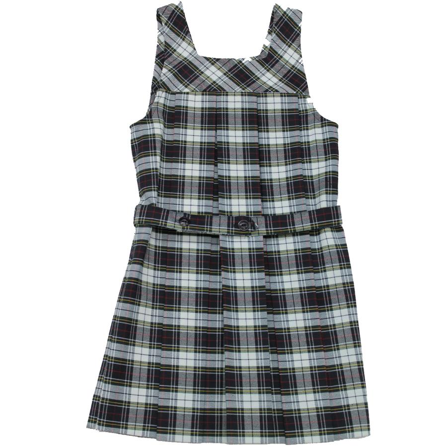 School Uniform Girls Plaid Jumper Tunic With Attached Belt (3-20 ...