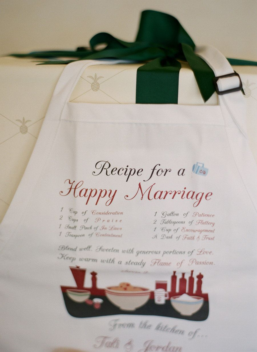 Recipe for a Happy Marriage Apron