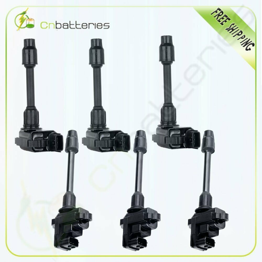 Ad eBay) Pack of 6 Ignition Coils on Plug Pack For Nissan