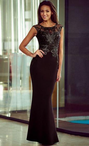 Dluga Wieczorowa Suknia Czarna Beautiful Dresses Sequin Maxi Dress Evening Dresses