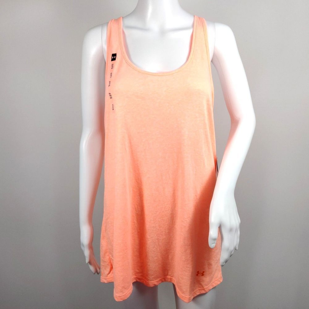 0395e095d2 Under Armour Tank Top Womens XL Charged Cotton Racerback Orange Loose Fit  NWT #UnderArmour #ActivewearTank