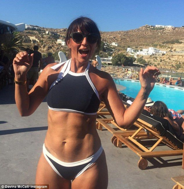 Davina Mccall 49 Shows Off Her Impeccably Toned Abs In A