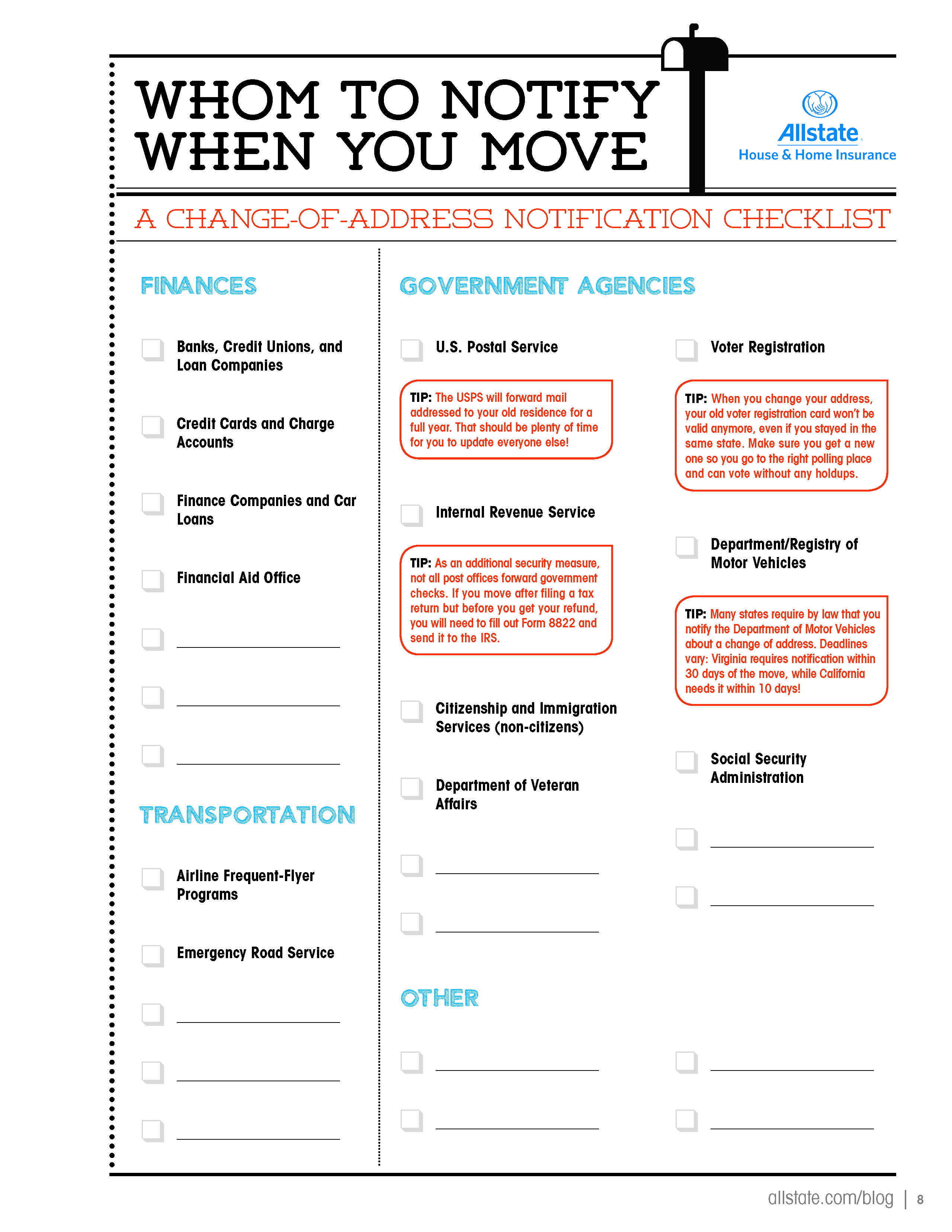 Whom To Notify When You Move page 2 of 2 LoveYourHome