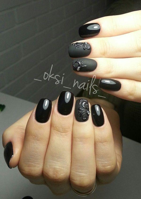 Matte Black Nails Tutorial