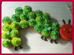 Eric Carle inspired cupcakes