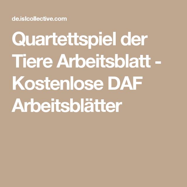 Quartettspiel der Tiere | Pinterest | Arbeitsblätter, Lernen und ...