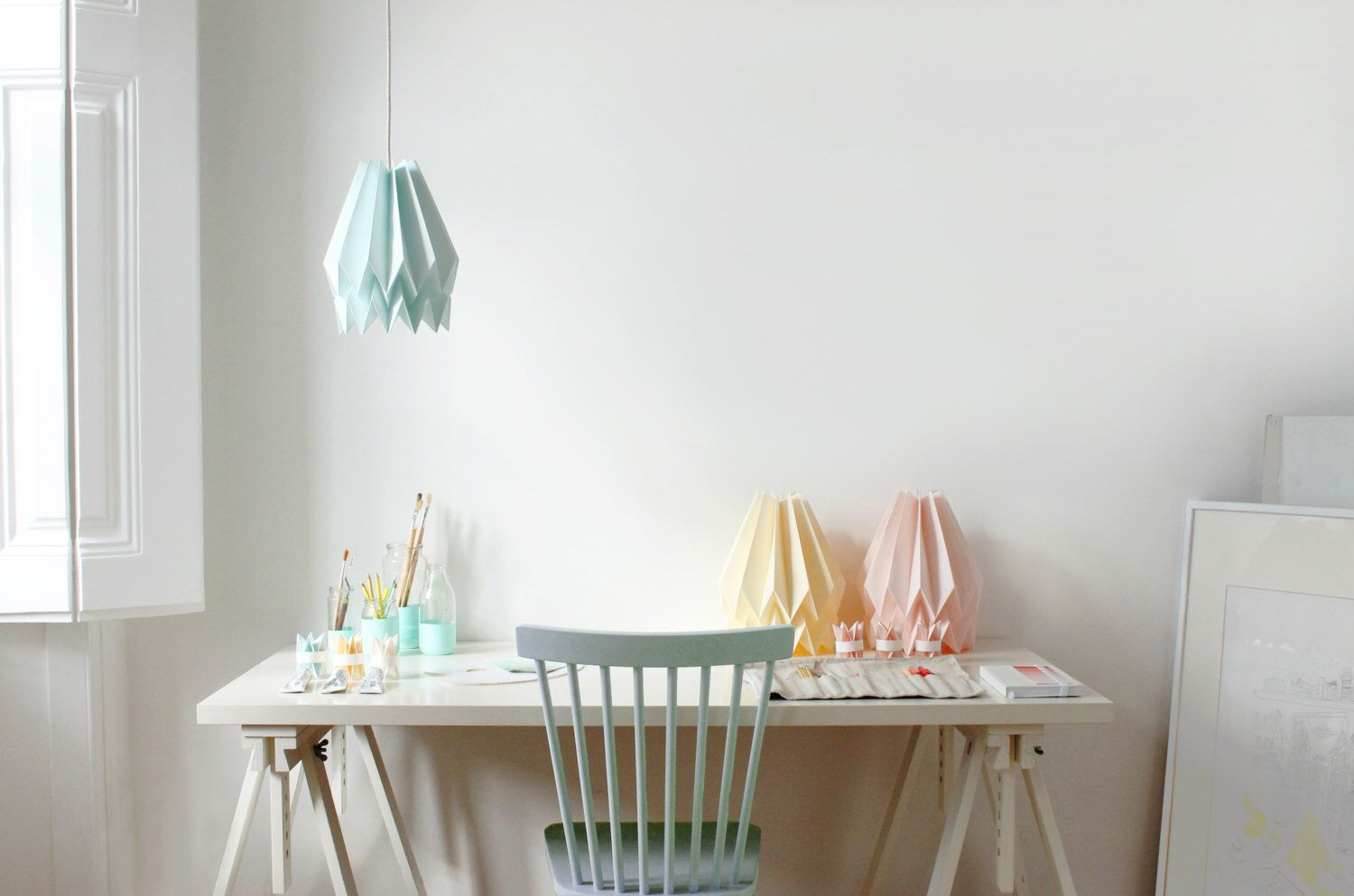 Origami Lamp | Plain Mint Blue | Design Lamp shade | FREE SHIPPING by blaanc on Etsy https://www.etsy.com/listing/169099402/origami-lamp-plain-mint-blue-design-lamp