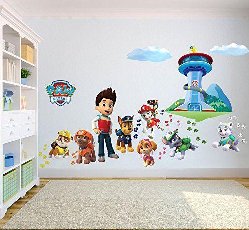 FilleTaille Garçon Enfants Mural 3d Sticker Patrol Paw Chambre cTlJ3uFK1