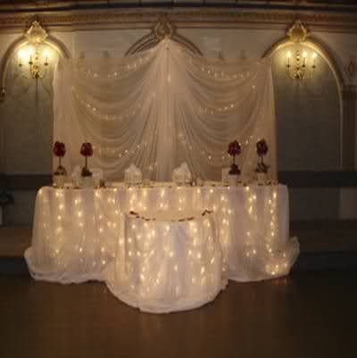 Like The Use Of Christmas Lights Under Table My Wedding Ideas Pinterest Head Tables And Weddings