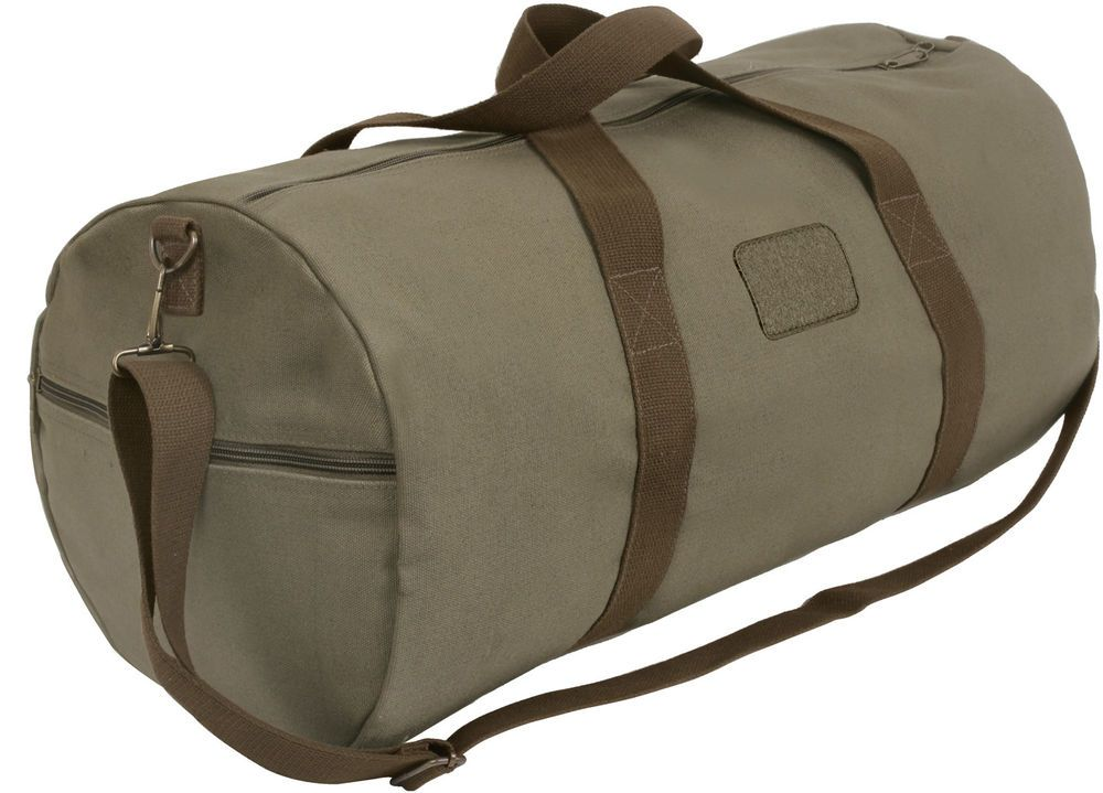 bbbcabe49ff Olive Drab Canvas Gym Duffle Carry Shoulder Bag with Loop Patch #Rothco # GymBag