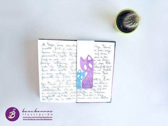 Punto de libro ilustrado GATOS CALLEJEROS / por beacbarros en Etsy