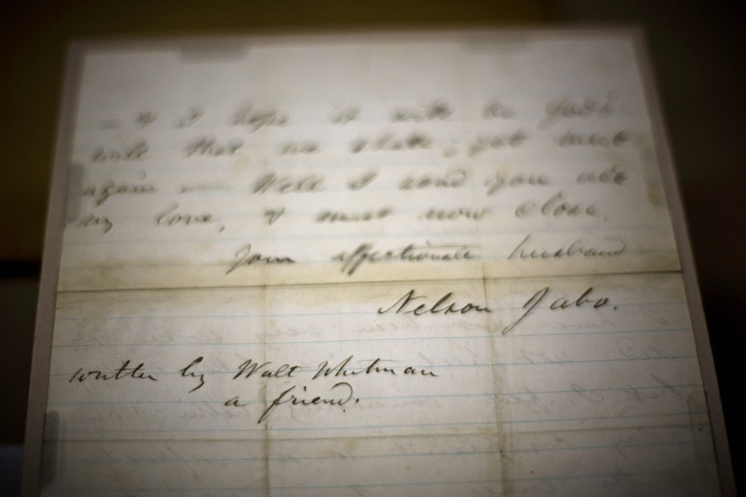 Rare Walt Whitman Letter Written For A Dying Soldier Found In