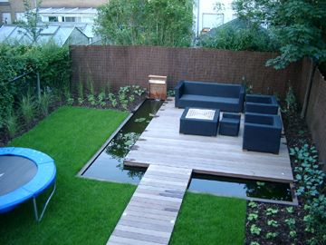 Trampoline Kleine Tuin : Xtravert tuinarchitectuur tuinontwerp tuinaanleg en