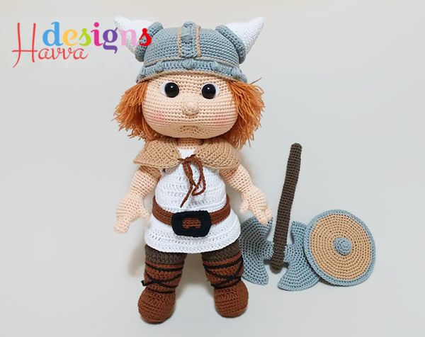 Amigurumi Patterns Net Design Contest : Buy tommy with viking costume amigurumi pattern