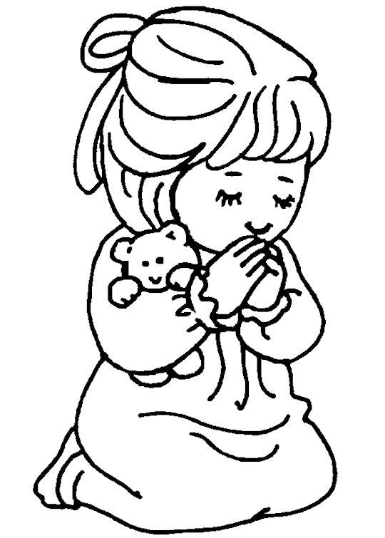 Girl Saying A Prayer Coloring Page Free Girl Saying A Prayer