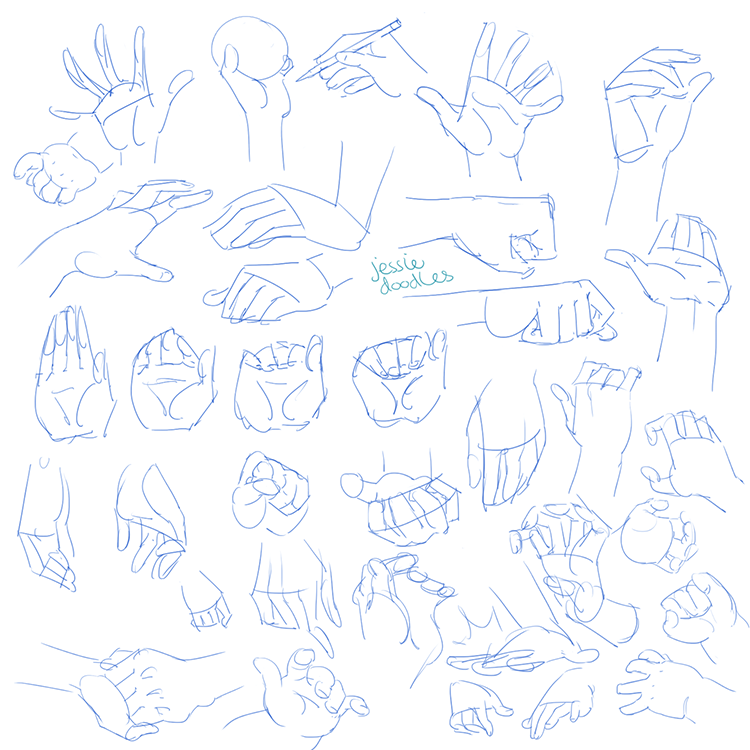 jessiedoodles you know what they say a hand practice drawing a