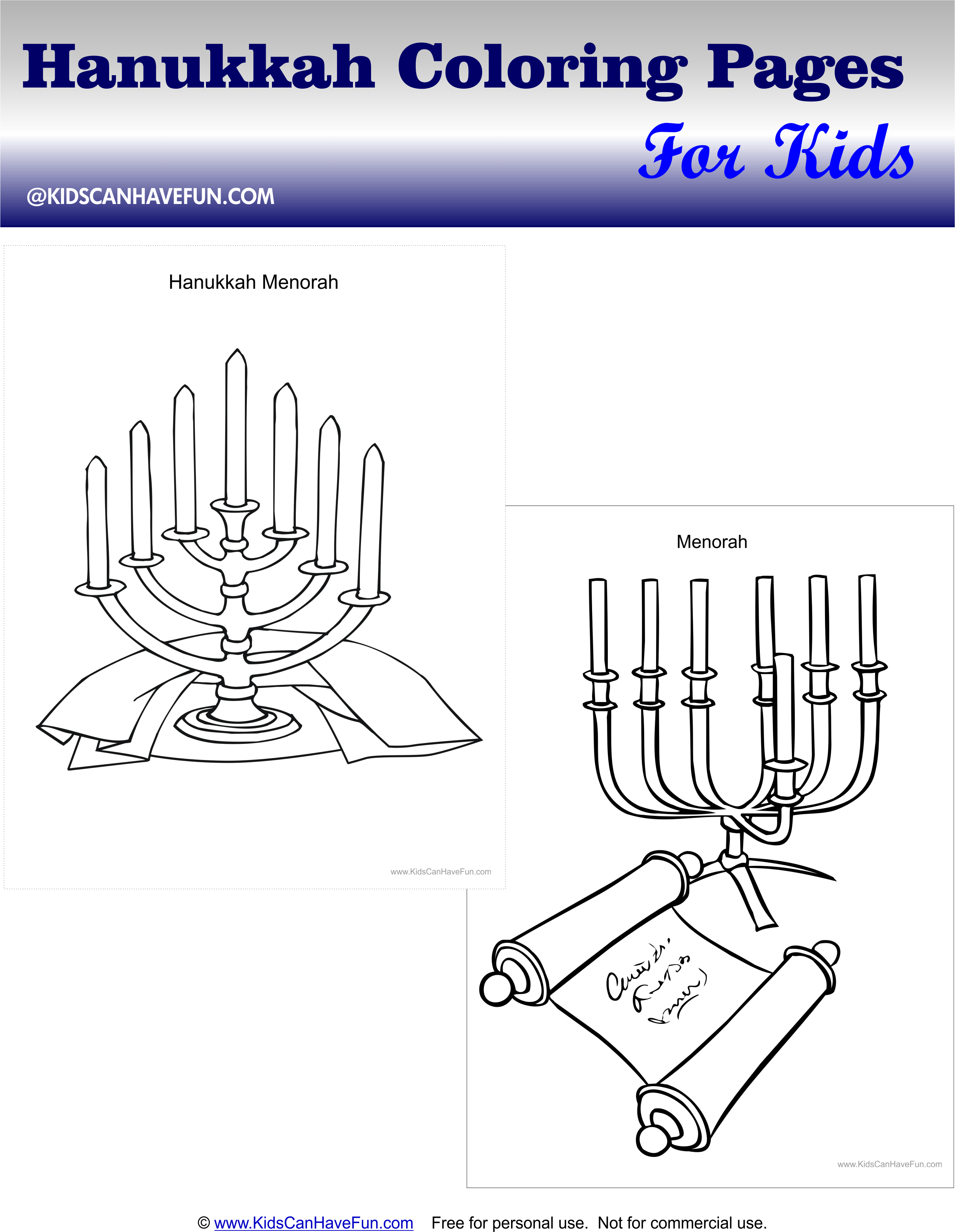 Hanukkah Coloring Pages Of The Menorah