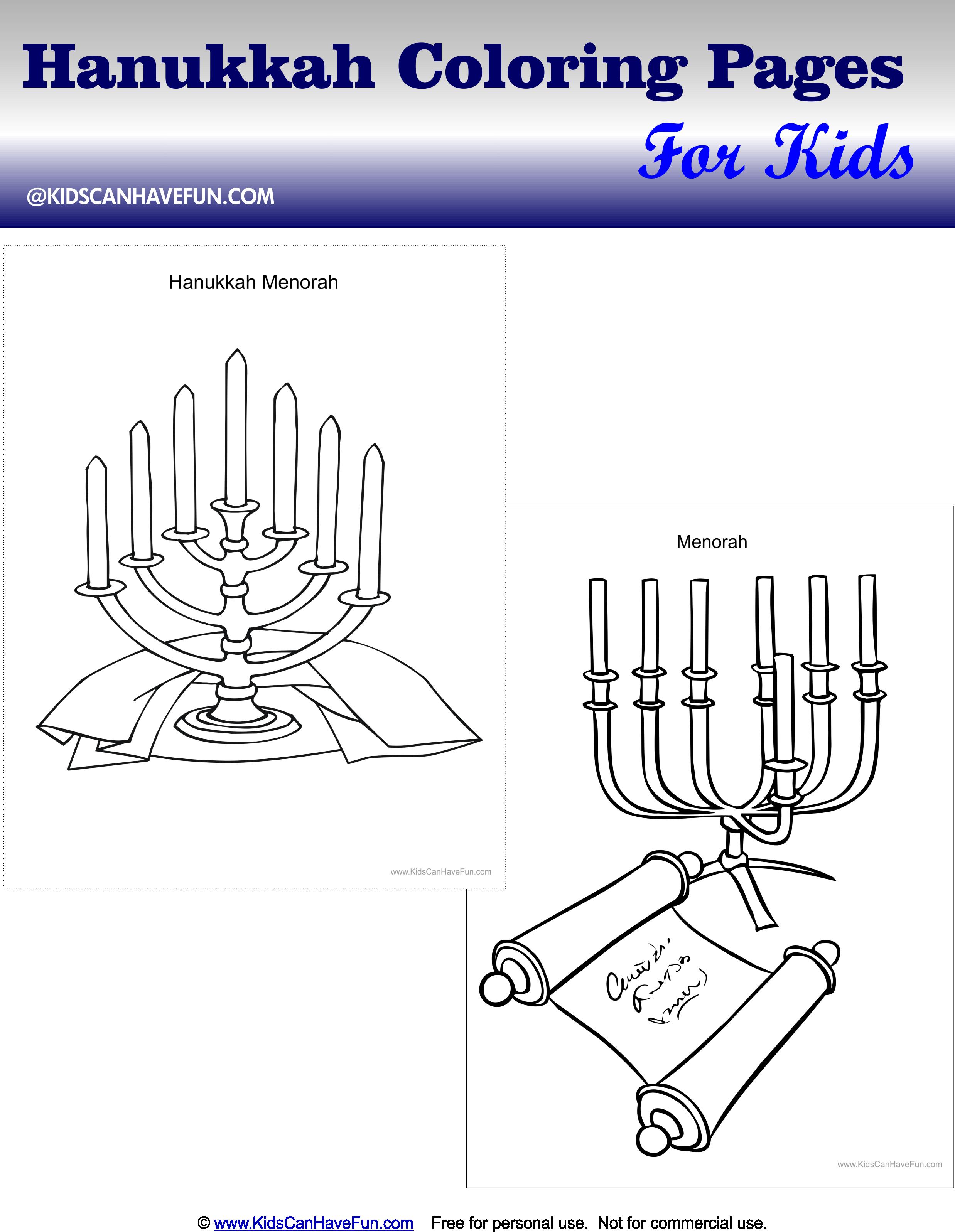 Hanukkah Coloring Pages Of The Menorah