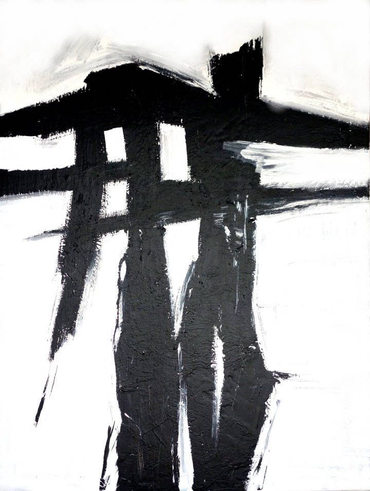 Black And White Abstract, Triptych Abstract Art Pr