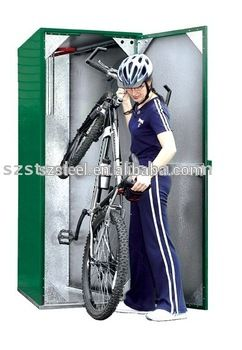 Bike Storage Containers Outdoor Bike Lockers Steel Bike Locker For